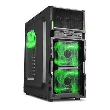 Case Midi Sharkoon VG5-W Nero con luce Ventola Frontale Verde