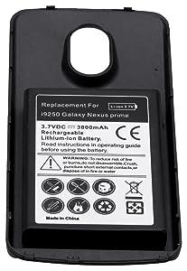 Nueva Batería de Repuesto de Alta Capacidad + Carcasa para Samsung i9250 Galaxy Nexus prime (3800 mAh, 3.7V) - Electrónica - revisión y más información