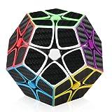 D-FantiX 2x2 Megaminx Cube Carbon Fiber Megaminx Speed Cube Dodecahedron Puzzle Toy