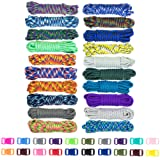 Zesty 550lb Survival Paracord Random Combo Crafting Kit by West Coast Paracord - 10 Colors of 500lb Cord & 10 FREE buckles - Type III Paracord - Make 10 Paracord bracelets-Great Gift