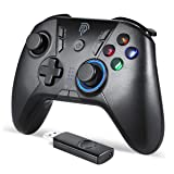 EasySMX Wired Game Controller Joystick with Dual-Vibration Turbo and Trigger Buttons for Windows/Android/ PS3/ TV Box (Black Grey) (Color: Black)
