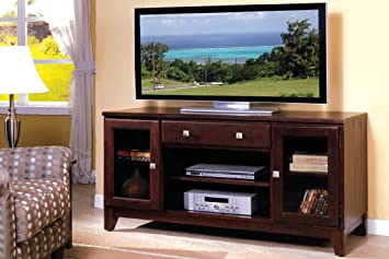 Pearington Aracelly TV Console, Dark Cherry Finish
