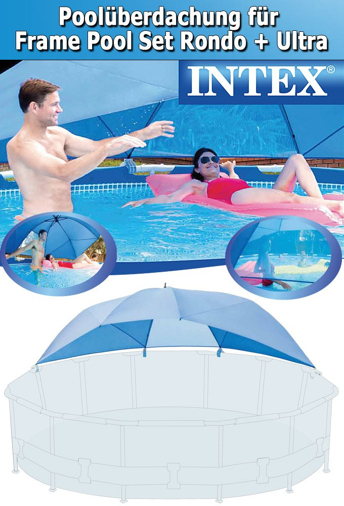 intex sonnendach sonnenschutz pool canopy f r frame pools 28050 pools zubeh r. Black Bedroom Furniture Sets. Home Design Ideas