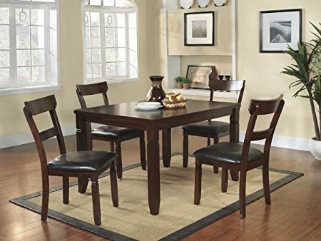 Oklahoma 5 PC Dining Table Set by Homelegance in Espresso