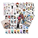BTS Gifts Set for Army, 32PCS BTS Lomo Card + 1 BTS Phone Ring Holder + 4 BTS 3D Stickers + 1 BTS Lanyard + 3 BTS Tattoo Stickers + 1 Standing Sticker