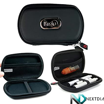 Travel Vape Case compatible with Vapor Smoking Electronic Hookah Pen |Black Thin Semi-Hard Shell|