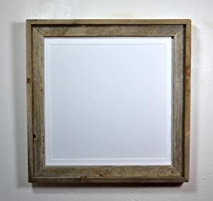 Simple Style Reclaimed Wood Frame With Mat For 6x6 Brown