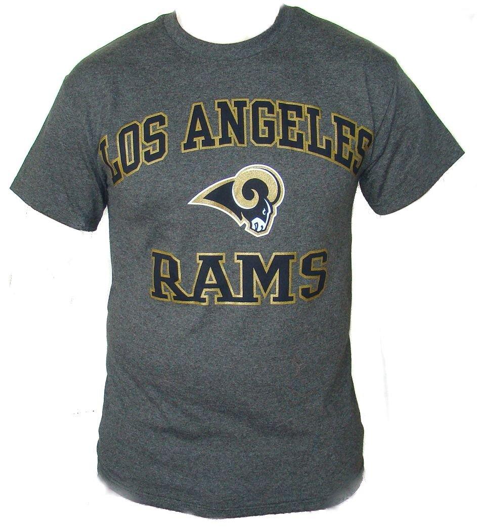 St. Louis Rams T Shirt NFL Team Apparel Gray Blue Logo ... |Nfl Rams Clothing