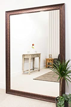 Large Bronze Elegant Leaner Mirror