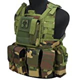 Evike Matrix Special Operations RRV Style Chest Rig - Woodland - (54988) (Color: Woodland - (54988), Tamaño: One Size Fits Most)