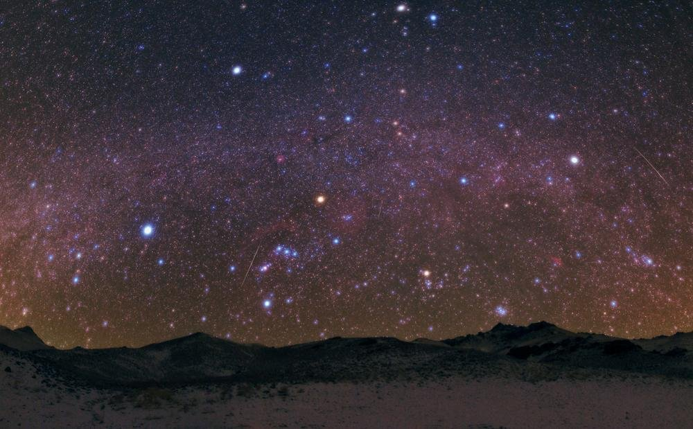 Geminids Meteor Shower above the Zagros Mountains