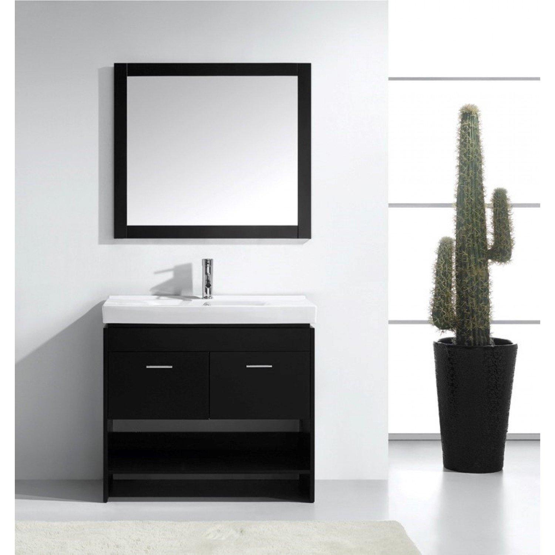 Gabinete Para Baño Madera:36 – tocador de baño Gabinete de madera sólida de cerámica Top