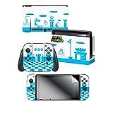 Controller Gear Skin & Screen Protector Set - Super Mario Mushroom Kingdom, Blue - Nintendo Switch (Color: Blue)