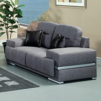 Furniture of America Russell Fabric Loveseat - Gray