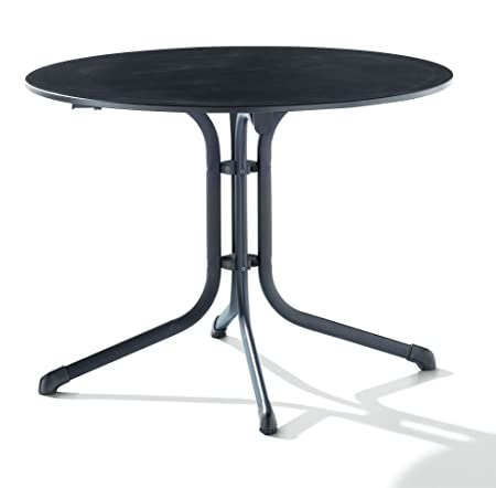 Sieger 1145-55 Puroplan Table de Pliante Boulevard Fer Gris 100 x 100 x 73 cm