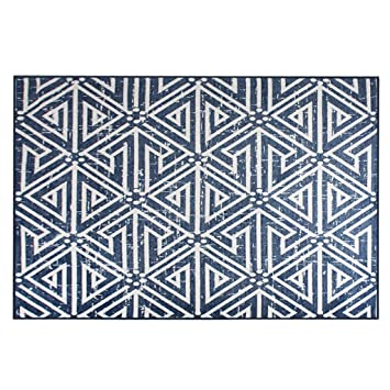JAZS® alfombra, sala de estar nórdica sofá de la alfombra mesa de centro geometría moderna de la simplicidad Dormitorio casero Manta de la cama 120 × 180cm 140 × 200cm antialergia suave y cálida ( Tamaño