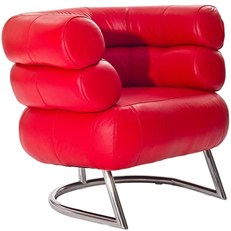 Contemporary Armchair in Red