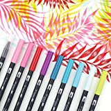 Tombow 56189 Dual Brush Set Tropical 10pc (Color: Tropical)