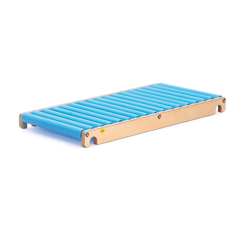 Erzi Rollenrutsche S, Trainingsrutsche, aus Holz / Schaumstoff, Maße 115 x 58 x 10,5 cm, natur-blau günstig online kaufen