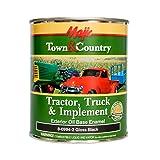 Majic Paints 8-0994-2 Town & Country Tractor, Truck & Implement Oil Base Enamel Paint, 1-Quart, Black (Color: Gloss Black, Tamaño: Quart)