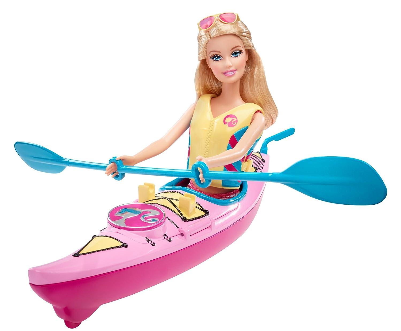 "Barbie – Let""s Go Kayak! – Barbie Beach Doll mit Kajak als Geschenk"