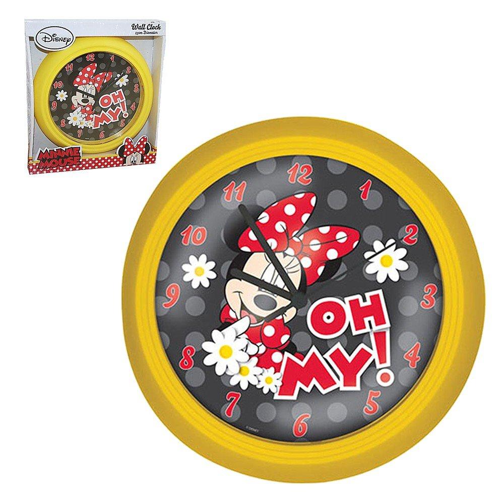 Minnie Maus – Wanduhr Kinderzimmer Uhr Mouse Gelb 23cm bestellen