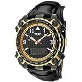 I By Invicta Men's 70970-002 Black Dial Black Leather Analog Digital Watch