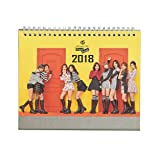Fanstown KPOP 2018 Desk Calendar EXO BTS VIXX with photo cards (TWICE B) (Color: Twice B)