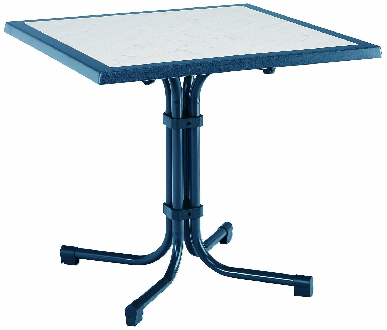 BEST 26538820 Tisch Boulevard quadratisch 80 x 80 cm, blau günstig kaufen