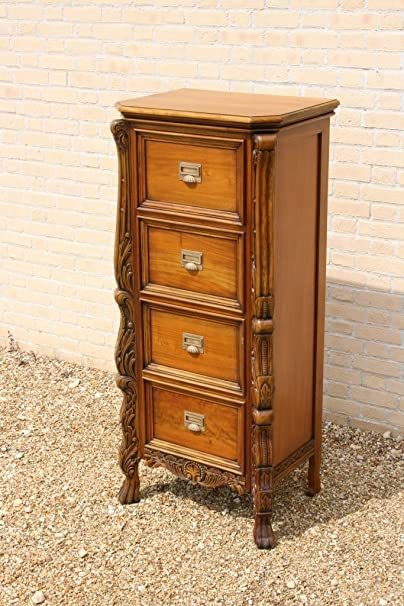 BAROQUE FILING CABINET 4 DRAWER SOLID MAHOGANY