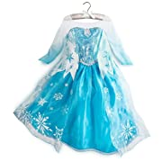 Authentic Disney Store Elsa From Frozen Costume Dress up for Kids Age Size 9-10 Years