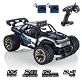 RC Cars KOOWHEEL 1:16 Scale 2WD Off Road Remote Control Cars with 2 Rechargeable Battery 2.4GHz Radio Remote Control Truck Monster High Speed Crawler USB Charger RC Car for Adults and Kids(Blue) (Color: Blue1512)