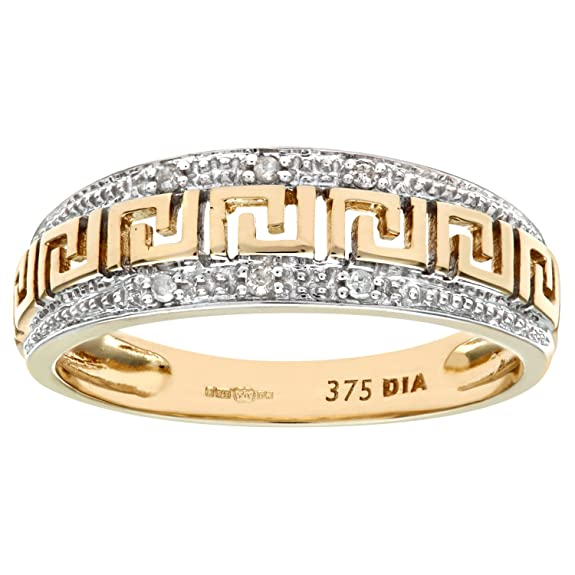 Naava 9ct Yellow Gold Diamond Ladies Dress Ring