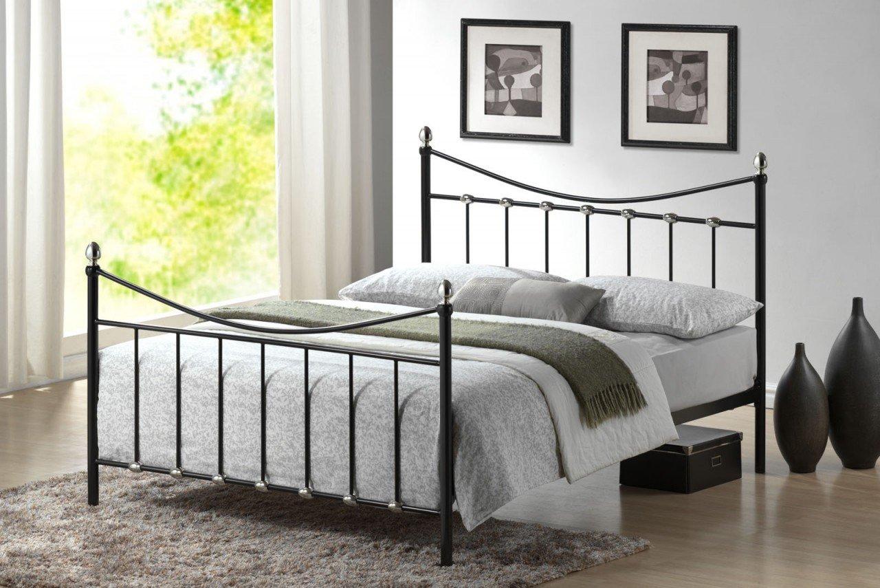Oban 5ft King Size Black & Chrome Silver Metal Bed       Customer reviews