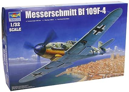 Trumpeter 1/32 Messerschmitt Bf109F4 German Fighter Model Kit [Toy] (japan import)