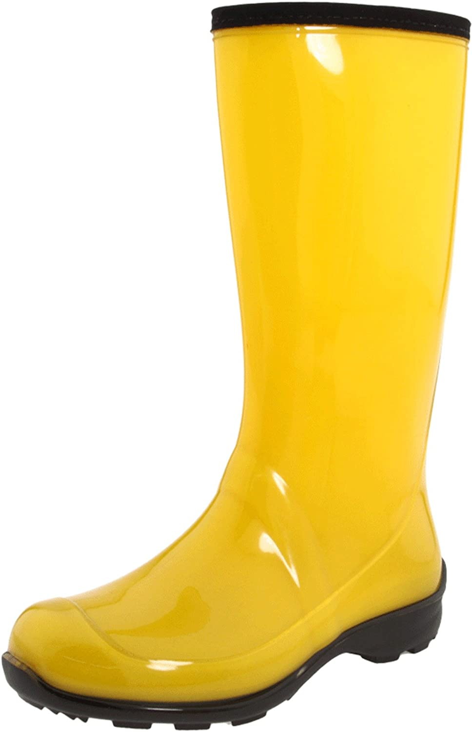 yellow rain boots for women