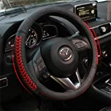 Vesul Red Steering Wheel Glove Leather Cover For Mazda 3 Axela Mazda 6 CX-5 CX5 2013 2014 2015 2016