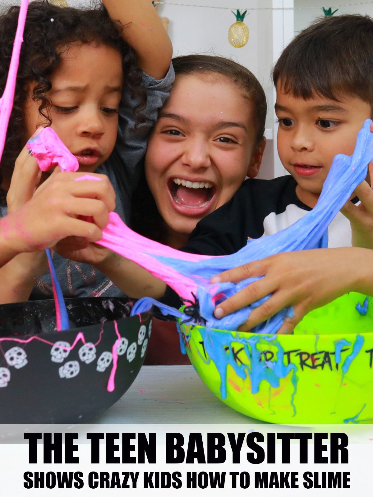 The Teen Babysitter Shows Crazy Kids How To Make Slime