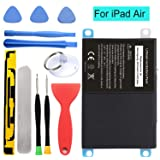 HDCKU New Battery for iPad Air Battery Replacement Kit for iPad 5 Generation A1474, A1475, A1476 with Full Set Installation Tools and Adhesive (365 Days Warranty) (Color: For iPad Air Only)