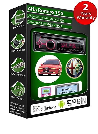 Alfa Romeo 155 de lecteur CD et stéréo de voiture radio Clarion jeu USB pour iPod/iPhone/Android