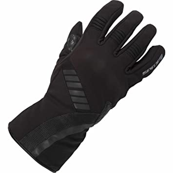 Gants de cuir de moto Spada Midnight Black