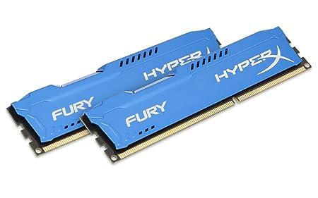HyperX Fury HX313C9FK2/8 Mémoire RAM 8Go 1333MHz DDR3 CL9 DIMM Kit (2x4Go) Bleu