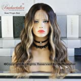 150density Balayage Blonde Lace Front Wigs Human Hair highlight human hair wig (Tamaño: 20)