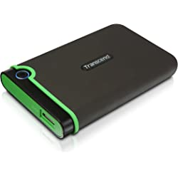 Transcend TS1TSJ25M3 1TB Portable External Solid State Drive for Windows & Mac - Green / Grey