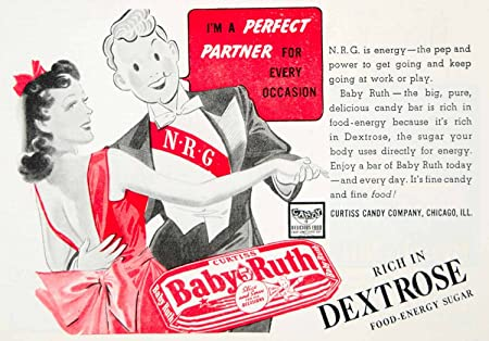 Ruth Candy Originals ad Vintage Baby Ruth Candy