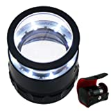 10x with 25mm with LED, Focused Eye Loupe Jewelry Magnifiers for Gems, Hobbies Antiques Models,Interchangeable Reticle Scale (Color: 10x Scale Loupe)