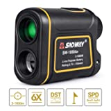 BNISE 1100Yards 1000m Laser Hunting Rangefinder with Pinsensor Flag-Lock for Golf Sports Wildlife Forestry 6X Magnification Distance Speed Angle Scan Measurement USB Charging (Color: 6x24-range)