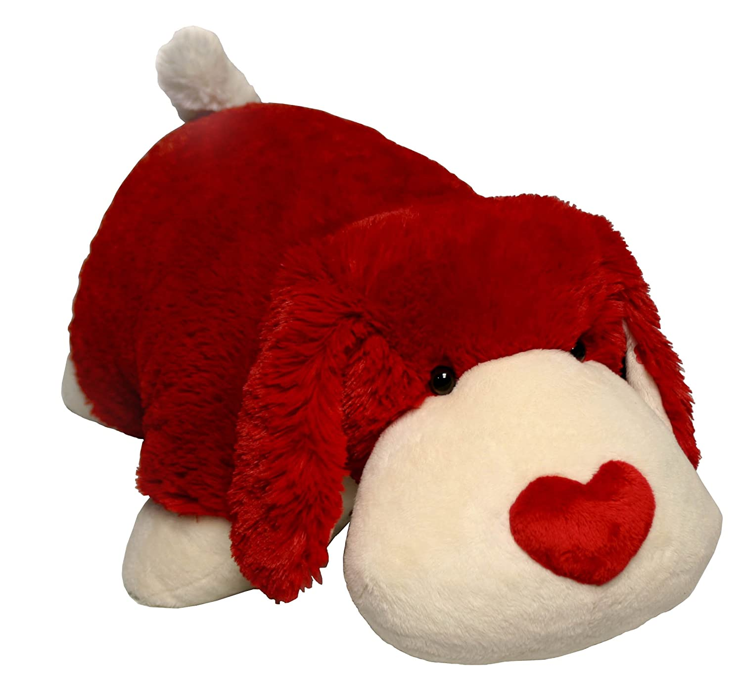 My Pillow Pets Luv Pup 18 Large (Red and white)