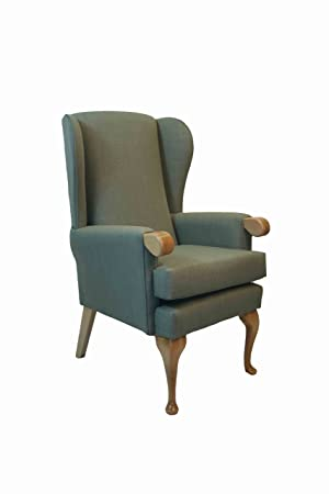 "NEW - Extra Wide Canterbury Orthopedic High Seat Chair 21"",19"" or 17"" Seat Height. Seat width 21"". Upholstered in Impervious Aqua coloured Fabric (19"" Seat Height)"
