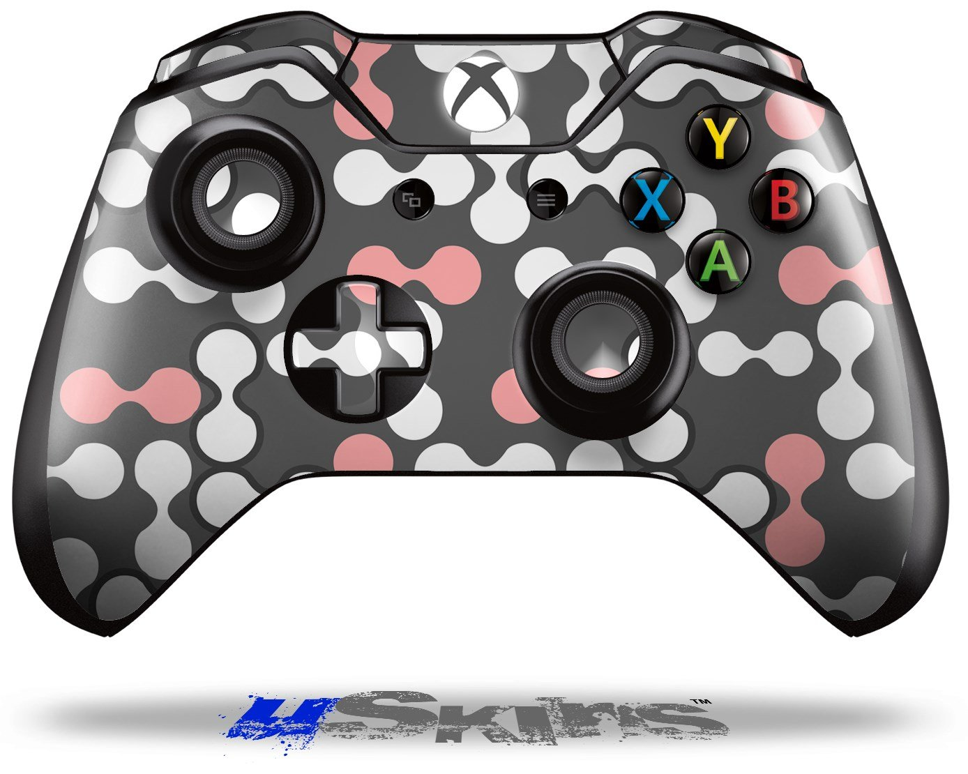 Locknodes 04 Pink - Decal Style Skin fits Microsoft XBOX One Wireless Controller wood grain oak 01 holiday bundle decal style skin set fits xbox one console kinect and 2 controllers xbox system sold separately